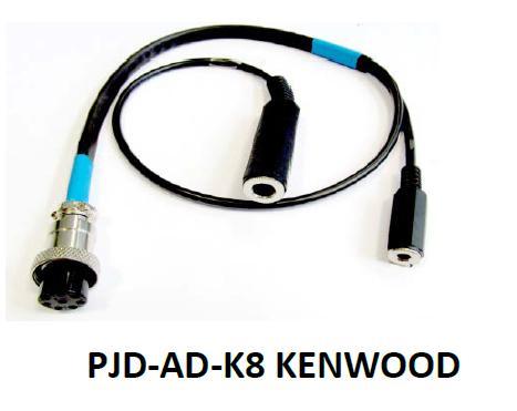 Cavetto adattatore cuffie PJD-HL-PRO per Kenwoo 8 poli circolare 80182c02619e
