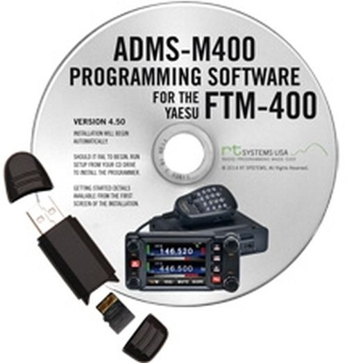 ADMS-M400 Programming Software with MicroSD card and USB reader