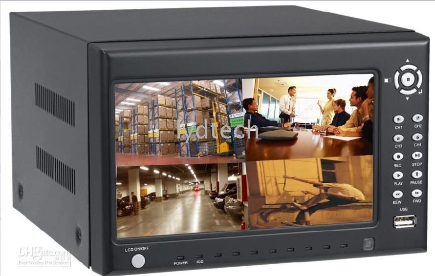 Kit DVR con monitor interno 4 telecamere cavi ed e' completo di hard disk 500 GB