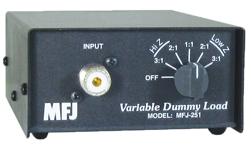 MFJ-251 DRY DUMMY LOAD, SWITCHABLE,16.6,25,50,100,150,HF+6