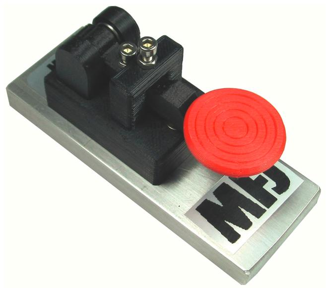 MFJ-566M CW TELEGRAPH KEY, ON HEAVY METAL BASE