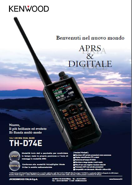 Ricetrans Kenwood TH-D74E – Tribander D-Star 144/220/440 MHz