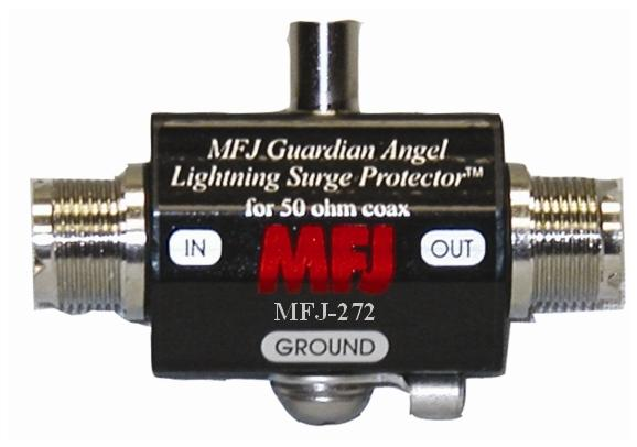 MFJ-272 LIGHTNING PROTECTOR, SO-239/SO-239, 1500W PEP