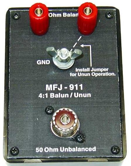 MFJ-911 BALUN/UNBAL, 4:1 CURRENT, 160-10M, 300 W