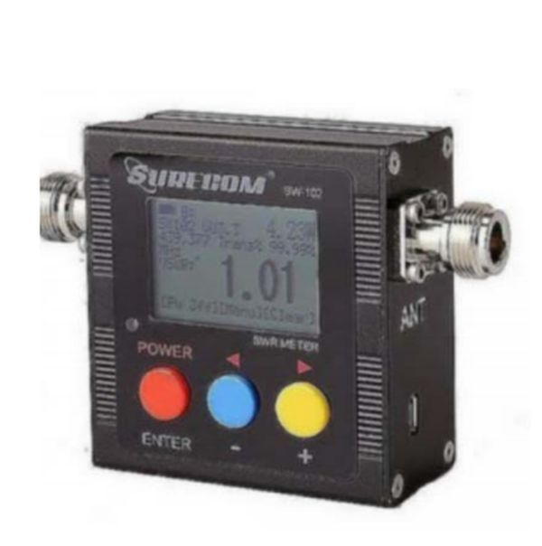 Surecom SW-102-N Dig.VHF/UHF Power/SWR Meter & Frequency counter
